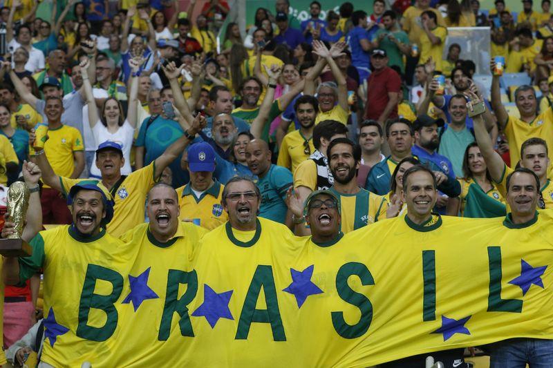 A seleção masculina de futebol do Braisl enfrenta a Alemanha nas Olimpíadas Rio 2016 (Fernando Frazão/Agência Brasil)