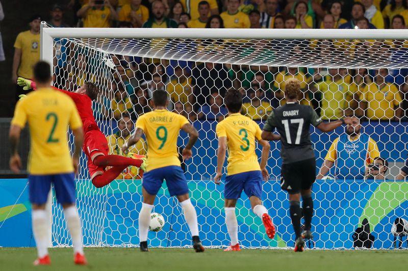Rio de Janeiro - Brasil e Alemanha disputam a medalha de ouro no futebol masculino (Fernando Frazão/Agência Brasil)